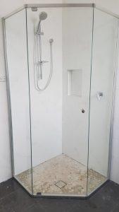 Splayed Semi Frameless Shower Screen