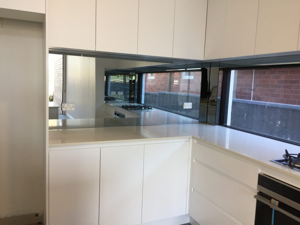 Smokey Mirror Glass Splashbacks Splachbacks Installation
